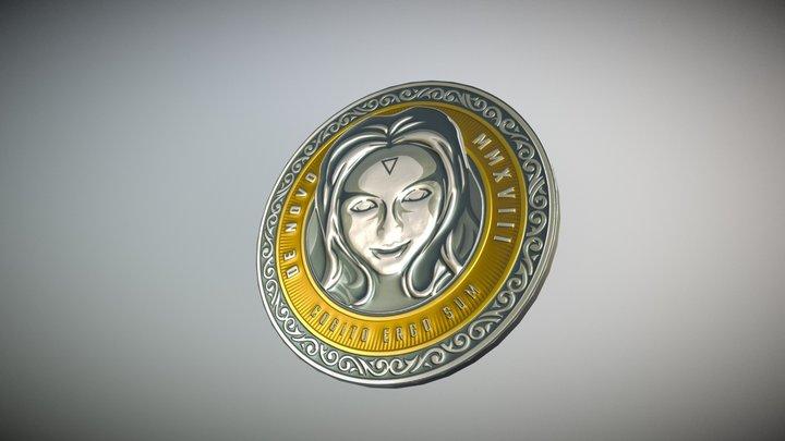 De Novo Collector's Coin 3D Model