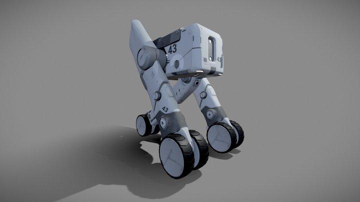 Cargo Carrier Vehicle Concept 3D Model