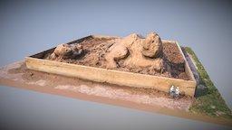 2017 Tulsa Raft Race Sand Sculptures: Bison 3D Model