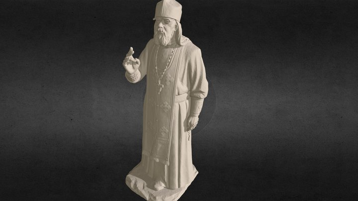 A 3D scan of an Orthodox priest 3D Model