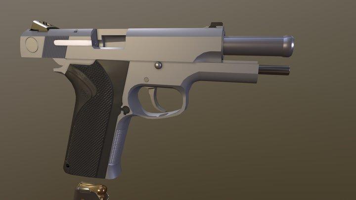 S&W 1076 3D Model