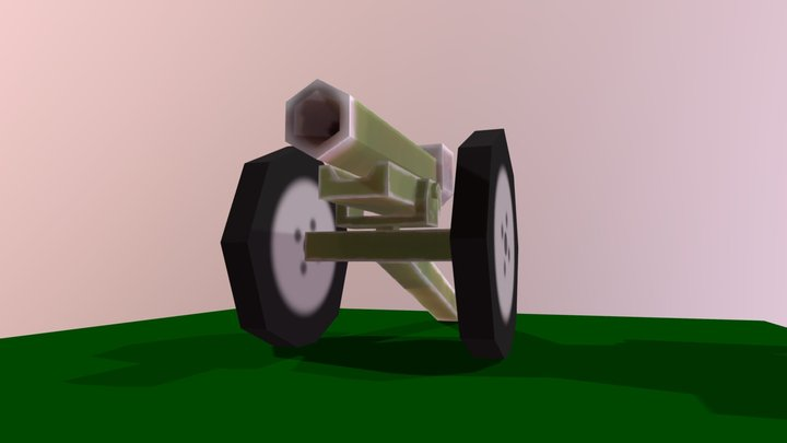 Low-Poly 75MM-Howitzer 3D Model