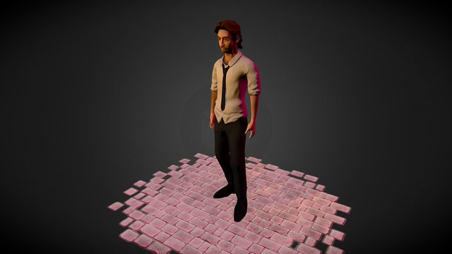 Semi-réalistic Bigby B. Wolf from TellTale serie 3D Model