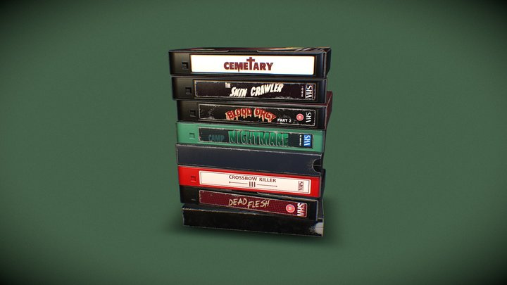 Horror Movie Stack 3D Model