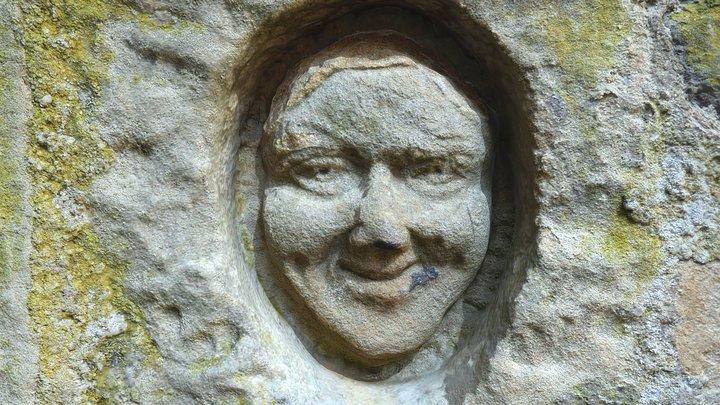 Belsay Hall Carved Face 3D Model