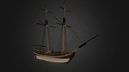 Schooner - Tides of War: Letters of Marque 3D Model