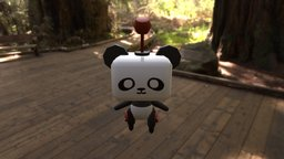 Pin - The little robot panda 3D Model