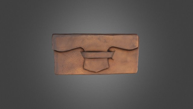 Leather Book Cover, ca. 1865 3D Model