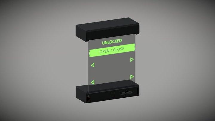 Sci-Fi Server Room AAA: Keypad (unlocked) 3D Model