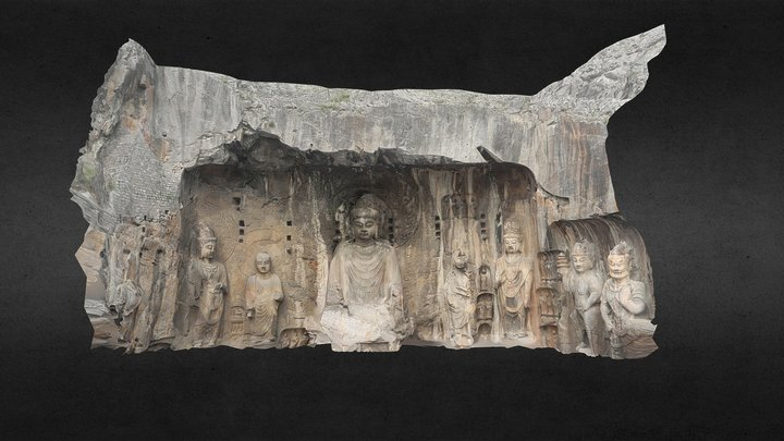 Grand Bouddha de Longmen, Chine, 2011 3D Model