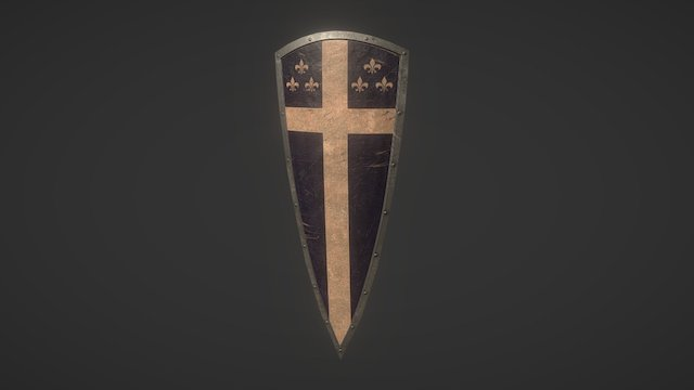 Curve Kite Shield 3D Model