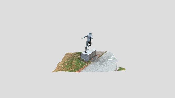 Harry Jerome Statue in Stanley Park 3D Model