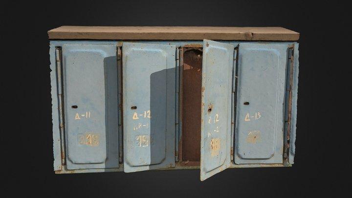 Letter-boxes 3D Model