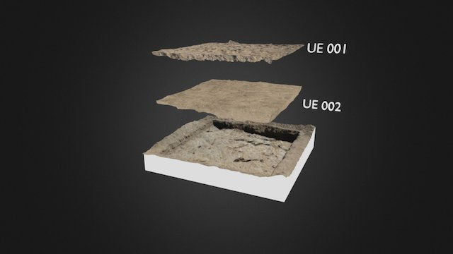 Archaeological levels reconstruction 3D Model
