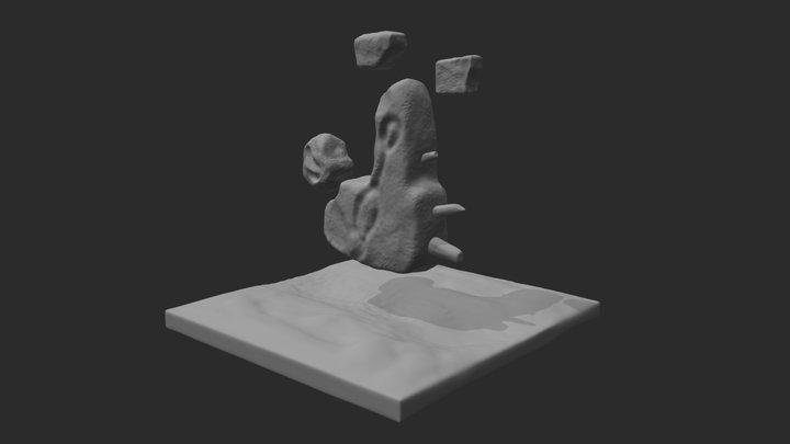 Milestone 1- Floating Rocks 3D Model