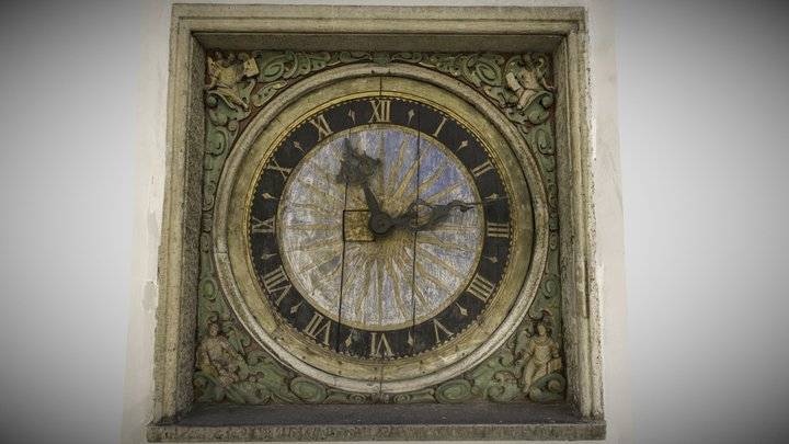 Clock of the Church of the Holy Ghost 3D Model