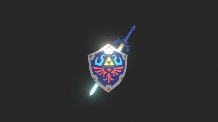 Hylian Shield & Master Sword 3D Model