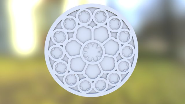 Truro Cathedral Rose Window Model 3D Model