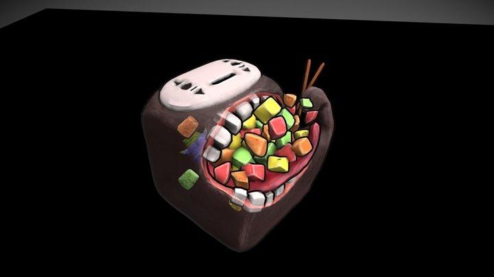 Cute NoFace 3D Model