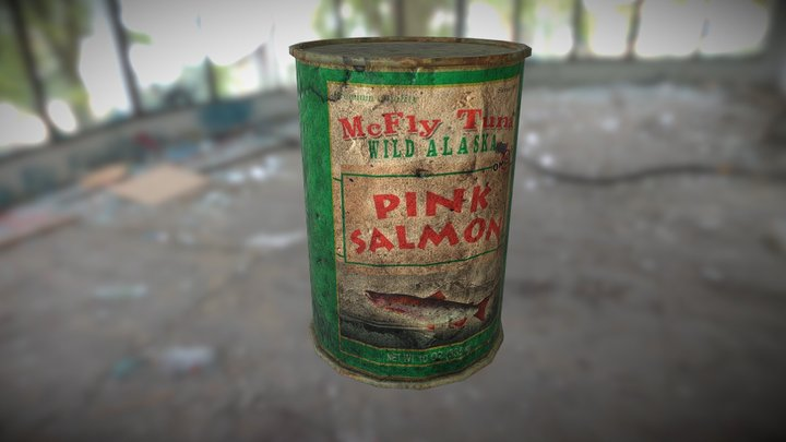 McFly Pink Salmon Can 3D Model