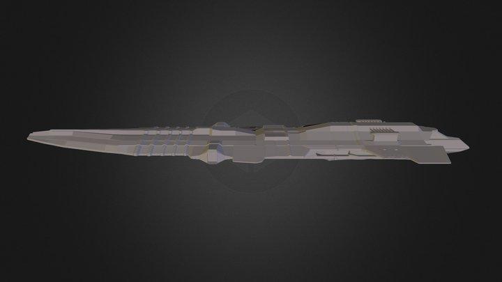 Battlecruiser 3D Model