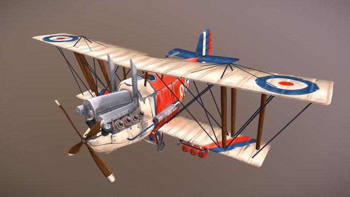 RE.8 Harry Tate Stylized Plane 3D Model