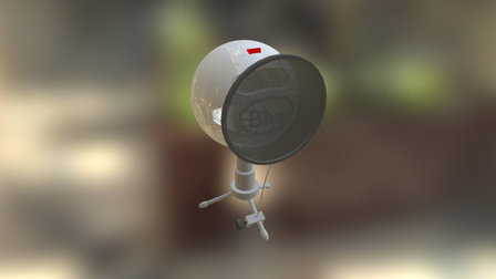 YouTuber's microphone 3D Model
