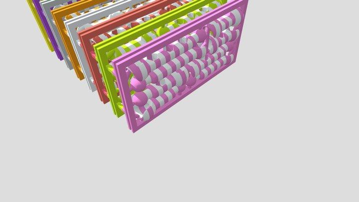 ModiBot Striped Frame Batch 3D Model