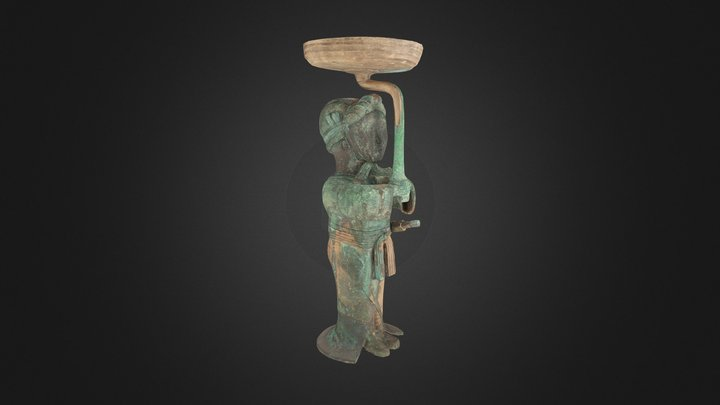 Sword-bearer lamp, 4th–2nd century B.C. 3D Model