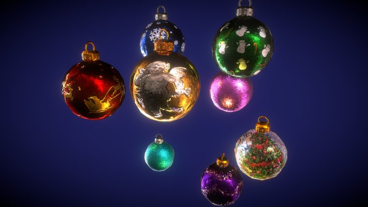 Christmas Tree Balls 3D Model