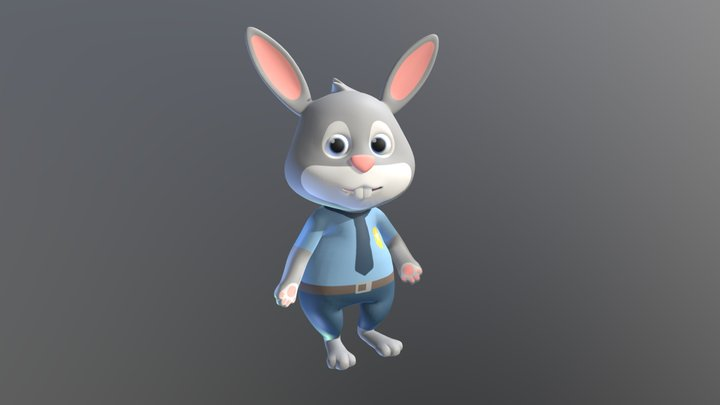 Rabbit AR 3D Model