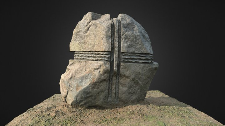 Stone with crosses 3D Model