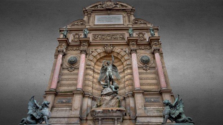 Fontaine de Saint Michel - PBR 3D Model
