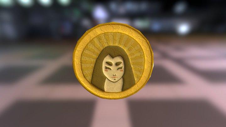Little Miko Coin 3D Model