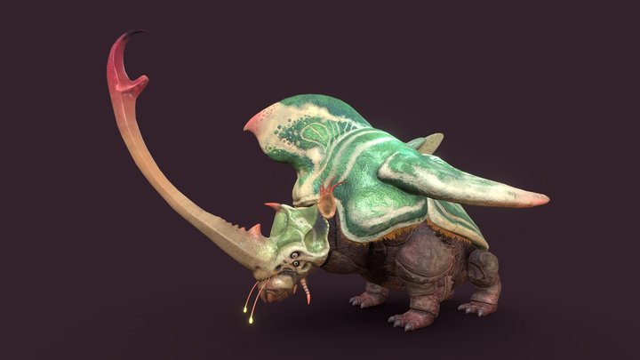 Rhinoceros Beetle from Another World 3D Model