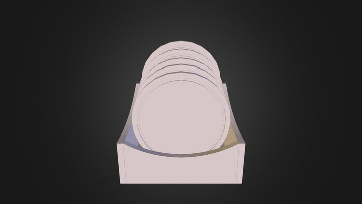 Stair-Step Coasters 3D Model