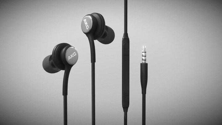 AKG Headphones 3D Model