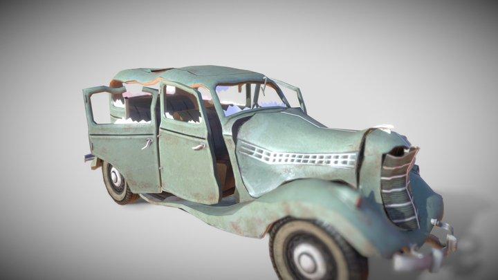 Fancy Car(Destroyed) 3D Model