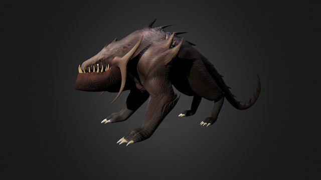 Wasteland Raptor 3D Model