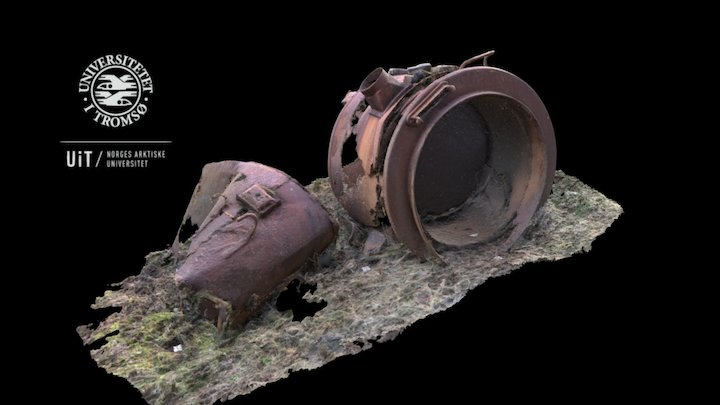 "Kalvika POW camp: Iron stew pot ""in situ"" 3D Model"