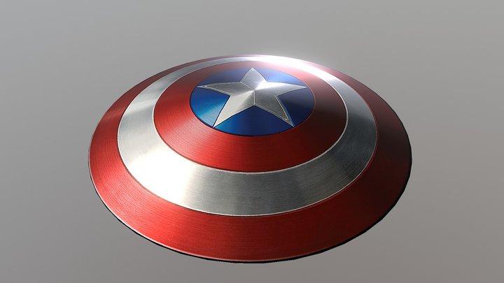 Captain America - Shield 3D Model
