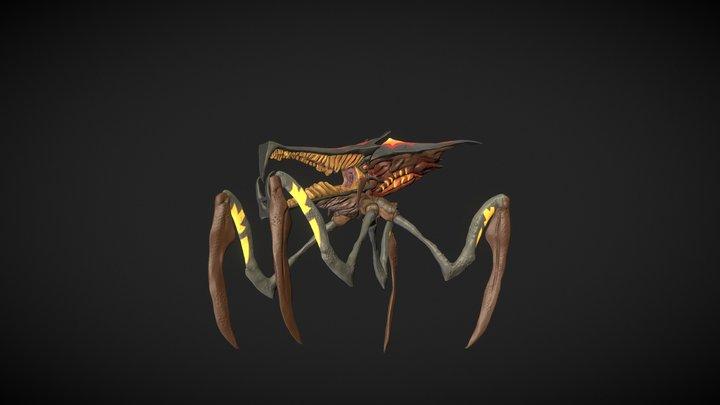 Warrior Bug_Color 3D Model