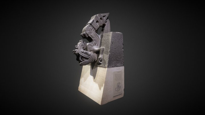 Stone figure of Xiuhcoatl (Fire Serpent) 3D Model