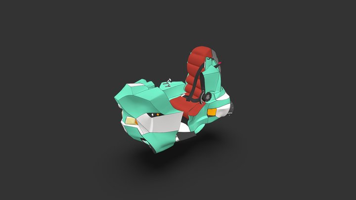 flying scooter 3D Model
