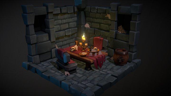 Dungeon Diorama 3D Model