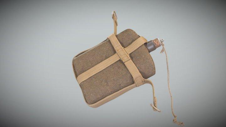 Military flask 37 3D Model