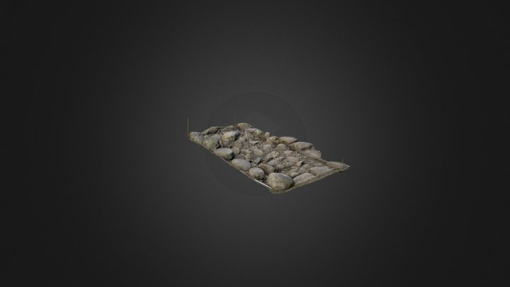 Aakre III kivikiht 3D Model