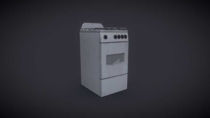 Stove PBR Low-Poly 3D Model 3D Model