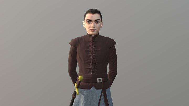 Arya Stark for full color 3D printing 3D Model