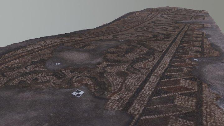 Római kori mozaik Szombathelyen 2 3D Model